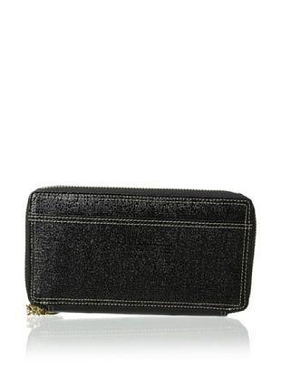 55% OFF Tusk Women's Double Zip Clutch Wallet, Black