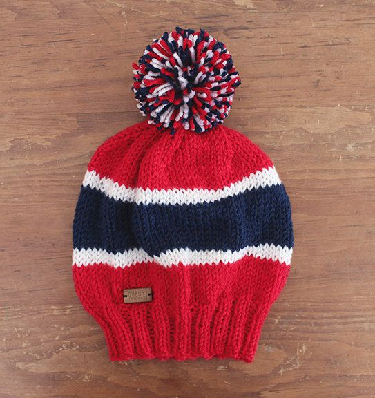 Red White Amp Blue Slouchy Style Montreal Canadiens Knit