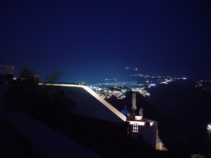 Santorini by night, Greece
