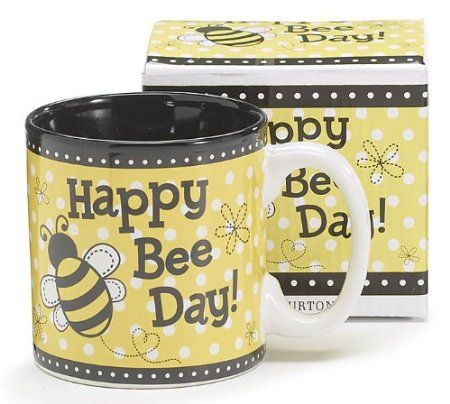 Amazon Happy Bee Day Honey Bumble Coffee Mug Adorable Gift Kitchen