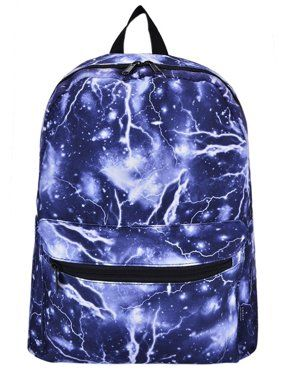 2c87ae2838eb Coofit Lightning Galaxy School Backpacks Canvas Book Bags Travel Laptop  Rucksack Daypack for Boys Girls Adults