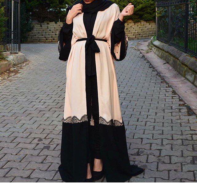 Pink•black  #EsteeAudra #abaya
