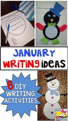This teacher gives directions for everything you need to make eight different writing activities a success in your classroom!  HOW TO BUILD A SNOWMAN, PENGUIN INFORMATIVE WRITING, MLK NEWSPAPER, NEW YEARS BALLOONS, SUPERBOWL PERSUASIVE, THE DAY I WAS A SN