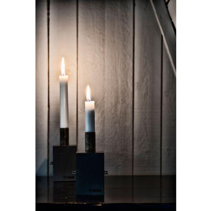 Ljusstake dubbel - Oddbirds #Ljusstake #candlestick #advent #oddbirds träljusstake
