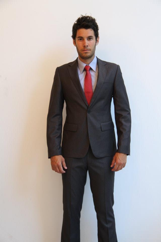 SuitCo slim shirt- $79  SuitCo Obama slim tie- $49  Charcoal Pinpoint SuitCo slim suit- $399
