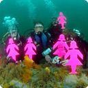 Underwater Mini-Field of Women