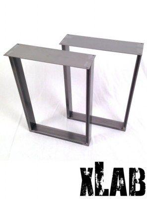 Coppia gambe in ferro anticato per tavolo 80x75x6 cucina - Gambe per tavolo ikea ...