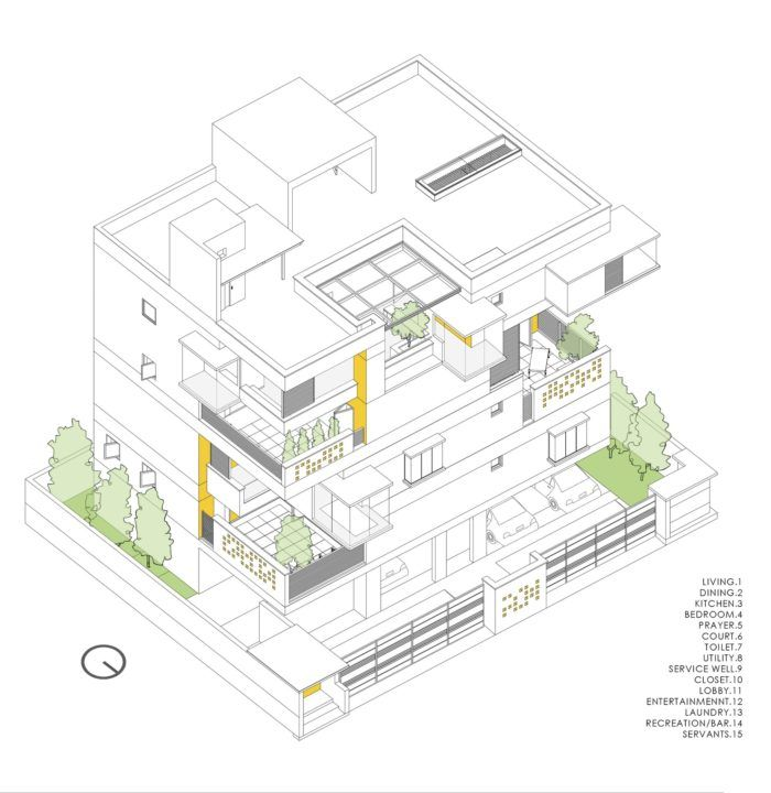 Never Apart Ment Spacefiction Studio Arch2o Com Clay Roof Tiles Residential Architecture Facades Urban Design Plan