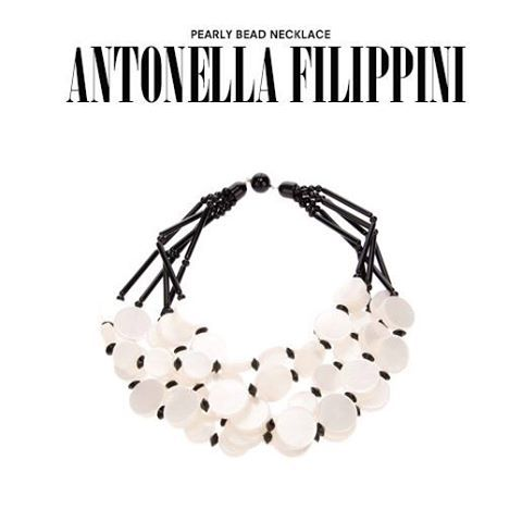 Antonella Filippini. #antonellafilippini #necklace #pearls #blackandwhite #jewellery #jewelry #dolcitrame #dolcitrameshop #shoponline