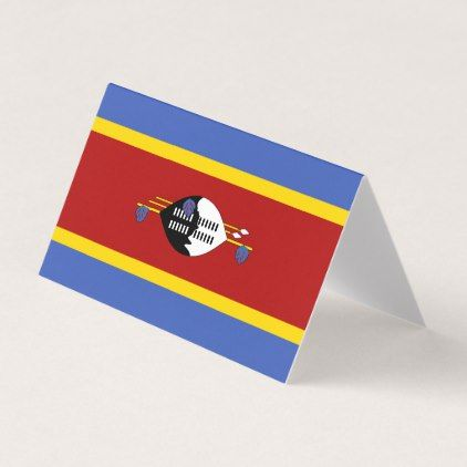 Swaziland Flag Card - diy cyo customize create your own personalize