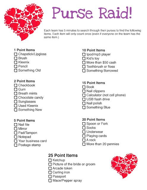 Purse Raid Bridal Shower Game   This Could Be Super Fun For Even Like A  Bday Party!... Proud I Have Atleast Two Of ...