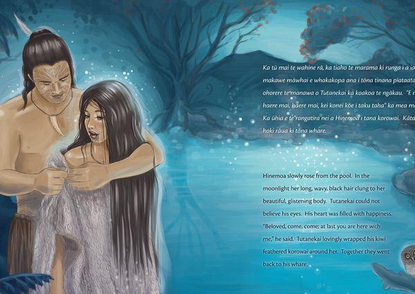 Hinemoa rāua ko Tutanekai // Book + Audio CD / Illustrated - Hinemoa & Tutanekai