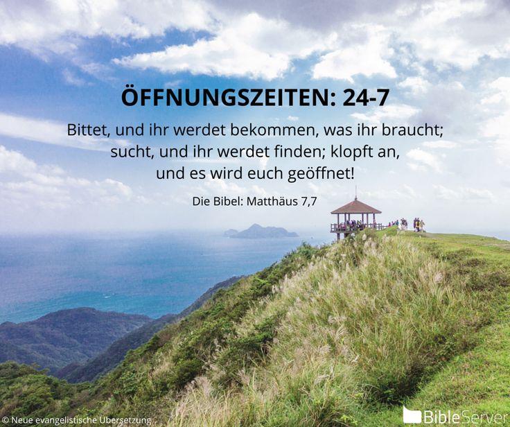 Nachzulesen in der #Bibel auf BibleServer | Matthäus 7,7