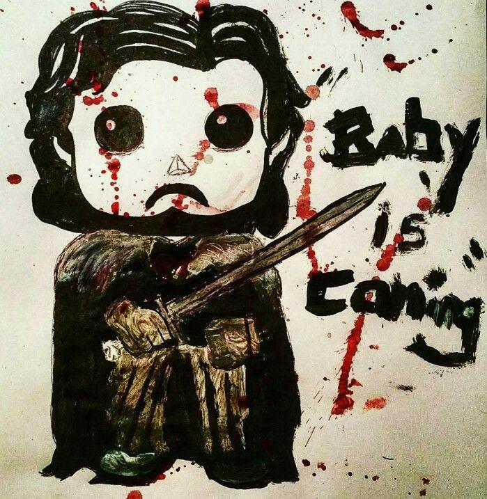 Baby Shower card #got #jonsnow #gameofthrones