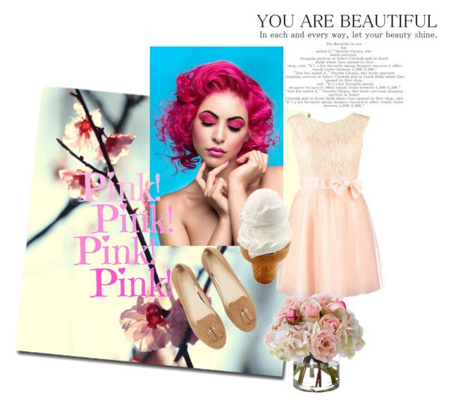 """Love Pink and Stay beautiful "" by katherine-chocolate on Polyvore featuring Trademark Fine Art, Laona and Diane James"