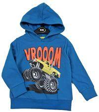 Outlet - Modrá mikina s autem a kapucí