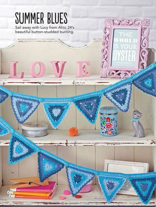 SummerBlues Lucy's Triangle Buntings will look wonderful in my munckins' rooms!