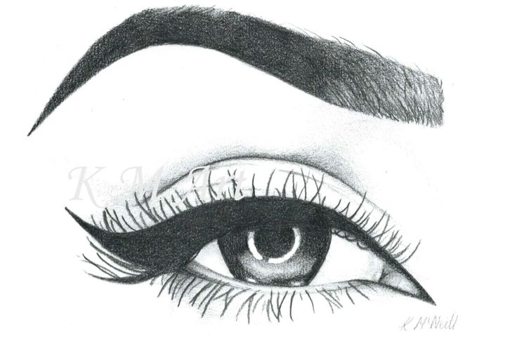 'The Flick'  #makeup #eyeliner #art #pencil #drawing