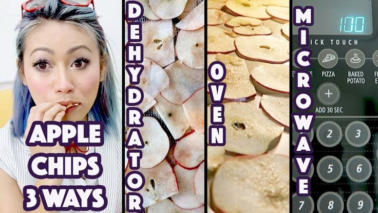 3-Ways To Make Apple Chips: Dehydrator, Oven, Microwave