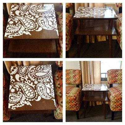 109 best paisley stencils images on pinterest paisley for Painting over lead paint on furniture