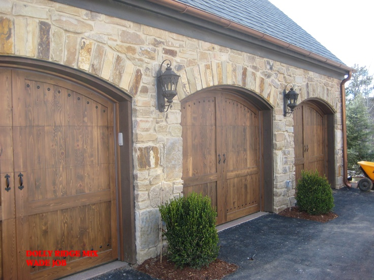 35 best images about stone veneers for beautiful curb for Wood veneer garage doors