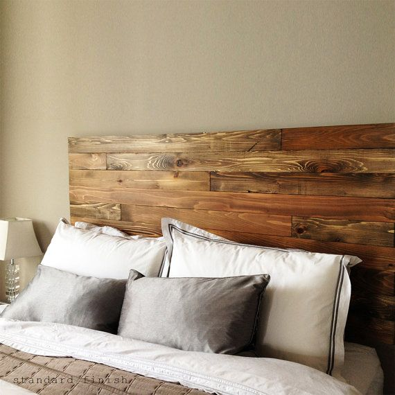 Cedar Barn Wood Style Headboard Modern Rustic by UrbanBilly