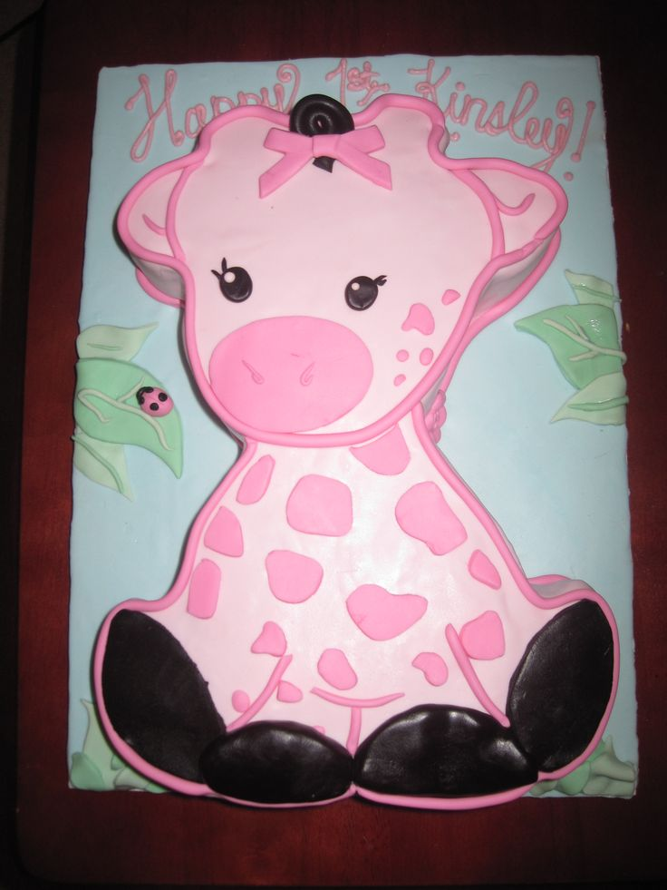 Planning on a pink giraffe theme for Thea's 1st birthday party, hopefully I can do one as cute as this!