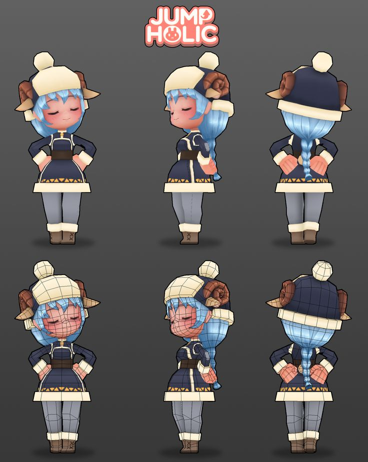 JumpHolic_Sheep modeling