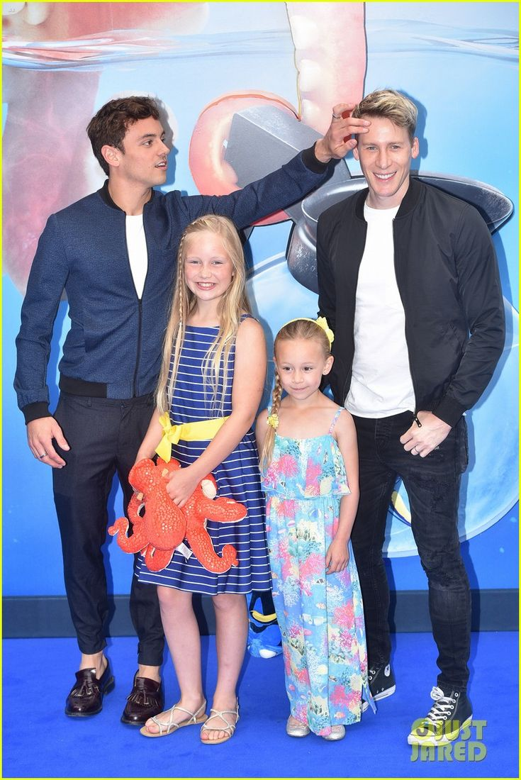 Tom Daley & Dustin Lance Black Step Out For 'Finding Dory' Premiere Ahead of Olympics