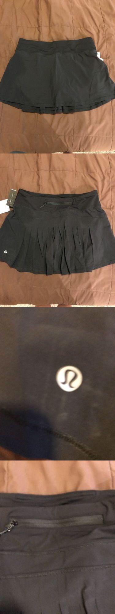 Skirts and Skorts 179824: Lululemon Women S Circuit Breaker Skirt Tall Slim-Fitting Skirt Black Size 8 -> BUY IT NOW ONLY: $62.99 on eBay!