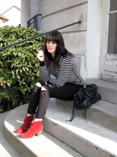 Du noir, du blanc, du rouge et des carreaux par @Léa - What the L