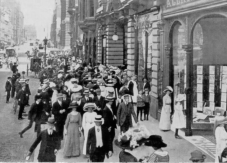 Collins Street, Melbourne late 19th century