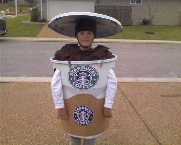 starbucks pumpkin spice latte kids halloween costume