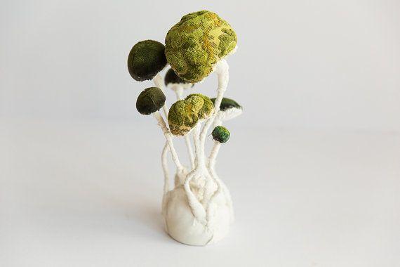 Textile Fungus Mushroom Fiber art Fungus von mysouldesign auf Etsy