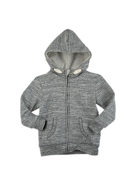Pumpkin Patch -  - jacob zip front hoodie - S5EB20001 - grey marle - 0-3m to 12