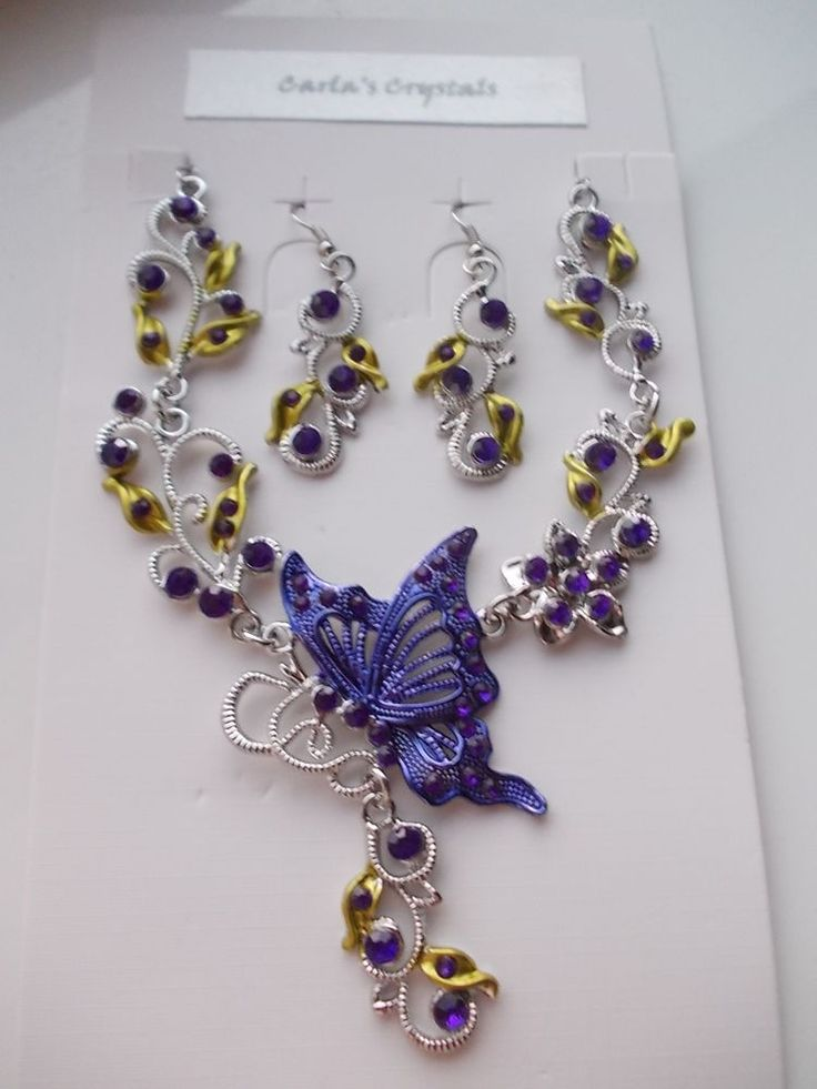 POST-XMAS SALE...Purple Jewellery Set