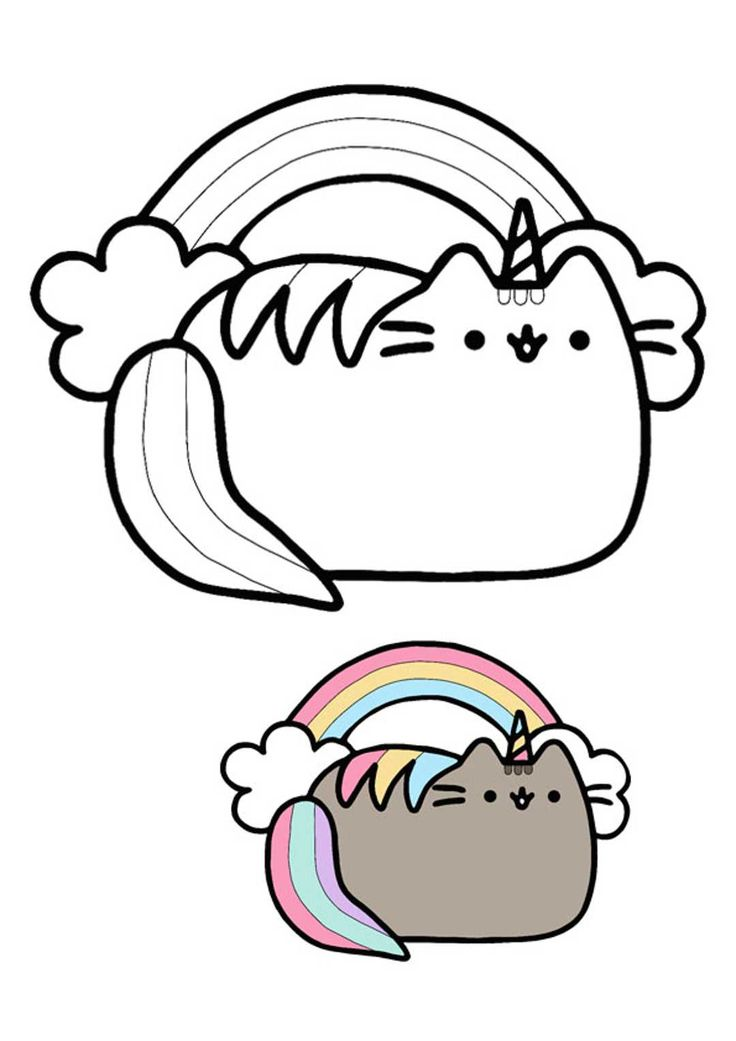 Pusheen Unicorn Coloring Pages | Pusheen coloring pages ...