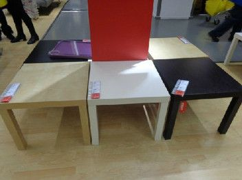 Coffee & side tables: Lack Sidetable-useful, **SO CHEAPEST!** $25 Length: 55 cm  Width: 55 cm  Height: 45 cm