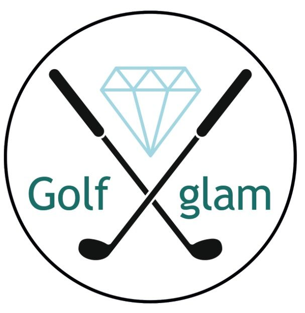 Customised golf visors with gems that will blind you and make you stand out on the golf course