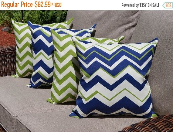 richloom tempest navy and zig zag chevron greenage outdoor throw pillow set of 4 free
