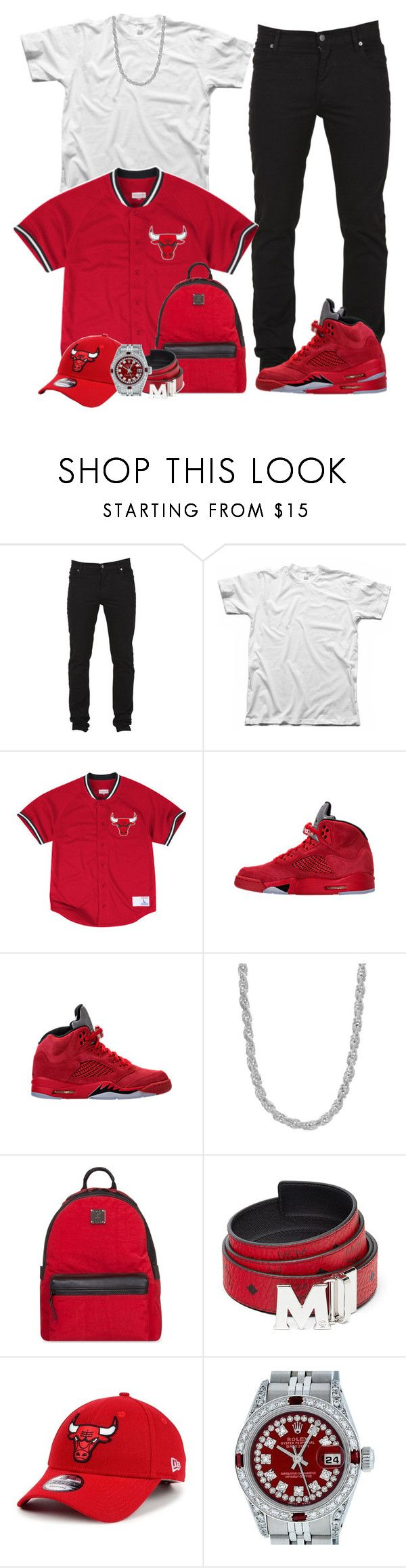 """Kendrick Lamar, Rihanna x Loyalty"" by vi-demigliore ❤ liked on Polyvore featuring Cheap Monday, Mitchell & Ness, Sterling Essentials, MCM, New Era and Rolex"
