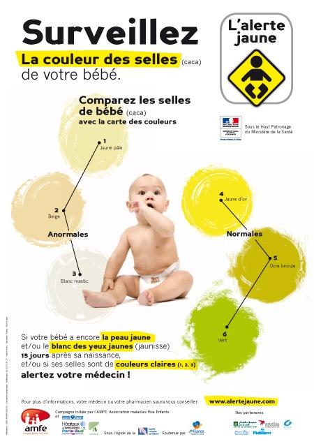 surveillez la couleur des selles de votre bébé !
