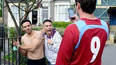 Kush, Fatboy and Martin in EastEnders