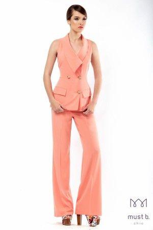 Fashion coral suit ss2015