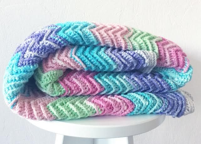 Can I get a Hell Yeah?! After months and months andmonths, I've finally finished my Textured Chevron Blanket! And not only have I finished it, but I have the pattern ready as well. But firs…