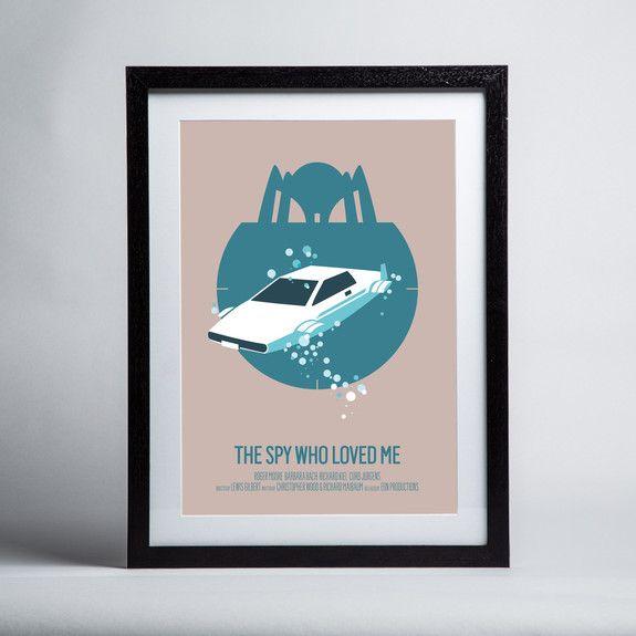 Bruno Morphet - Spy Who Loved Me - Framed print