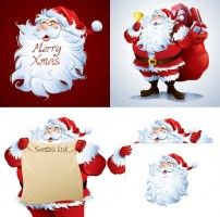 avatar cartoon santa claus vector