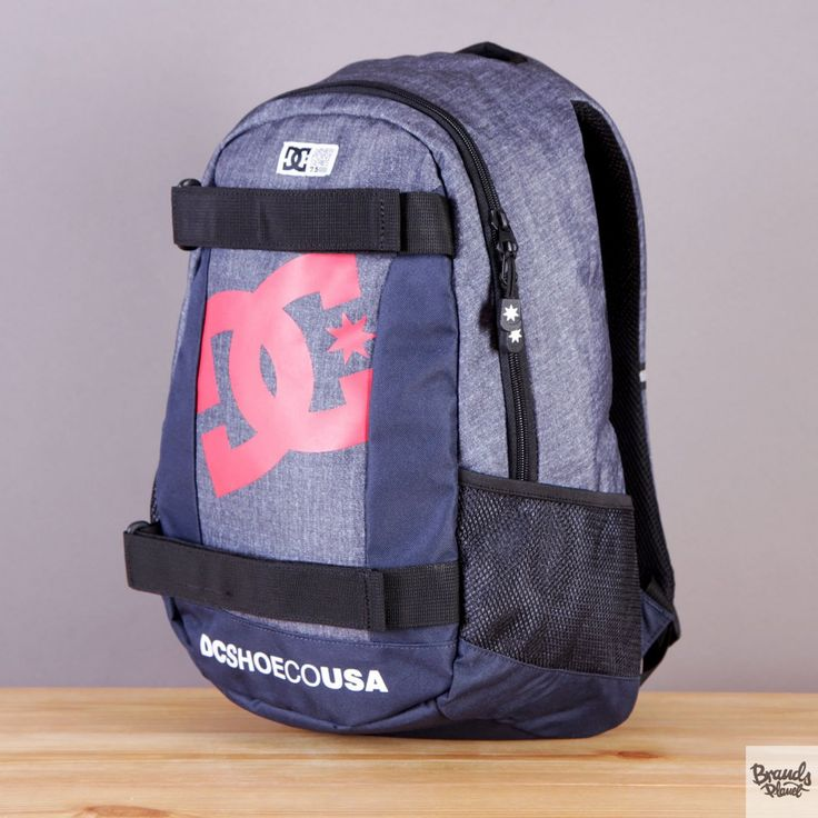 Plecak z uchwytem na deskorolkę DC Seven Point 5 Indigo Denim - kolor szaro-granatowy / www.brandsplanet.pl / #dc shoes #skateboarding