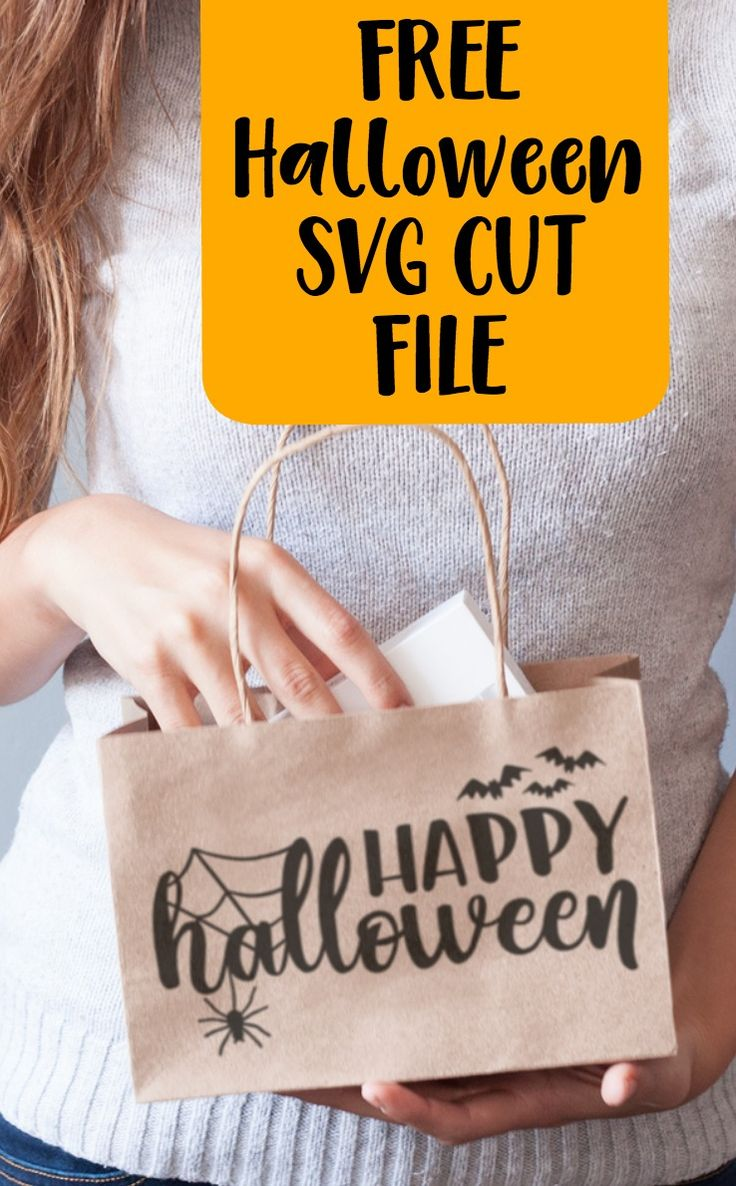 Free 'Happy Halloween' Spider Web Bat SVG Cut File for Silhouette Cameo, Cricut Explore or Maker - http://cuttingforbusiness.com/2017/10/27/free-happy-halloween-svg-cut-file/