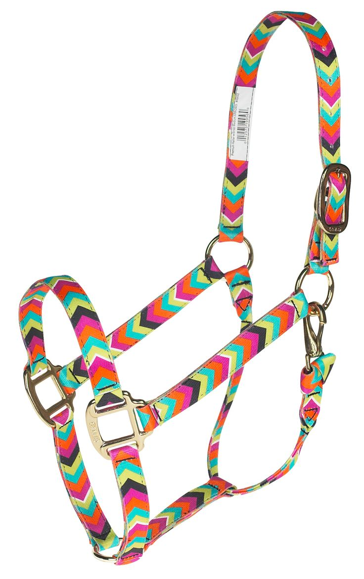 "1"" premium nylon halter with rolled throat with throat snap for a superb fit. Brass-plated hardware. Comes in several prints and colors. #horsehalters"